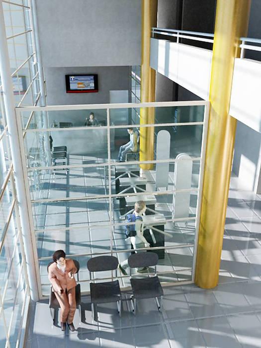 Vista virtual de Hall Acceso: Escuelas de estilo  por  Arquitectos Roman&Toledo
