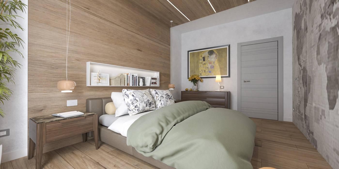 Progetto villa smart camera da letto in stile di - Progetto camera da letto ...