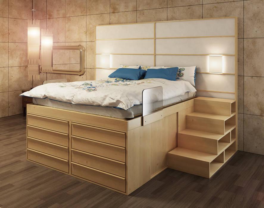 Letto salvaspazio impero con cassettiera: camera da letto in stile ...