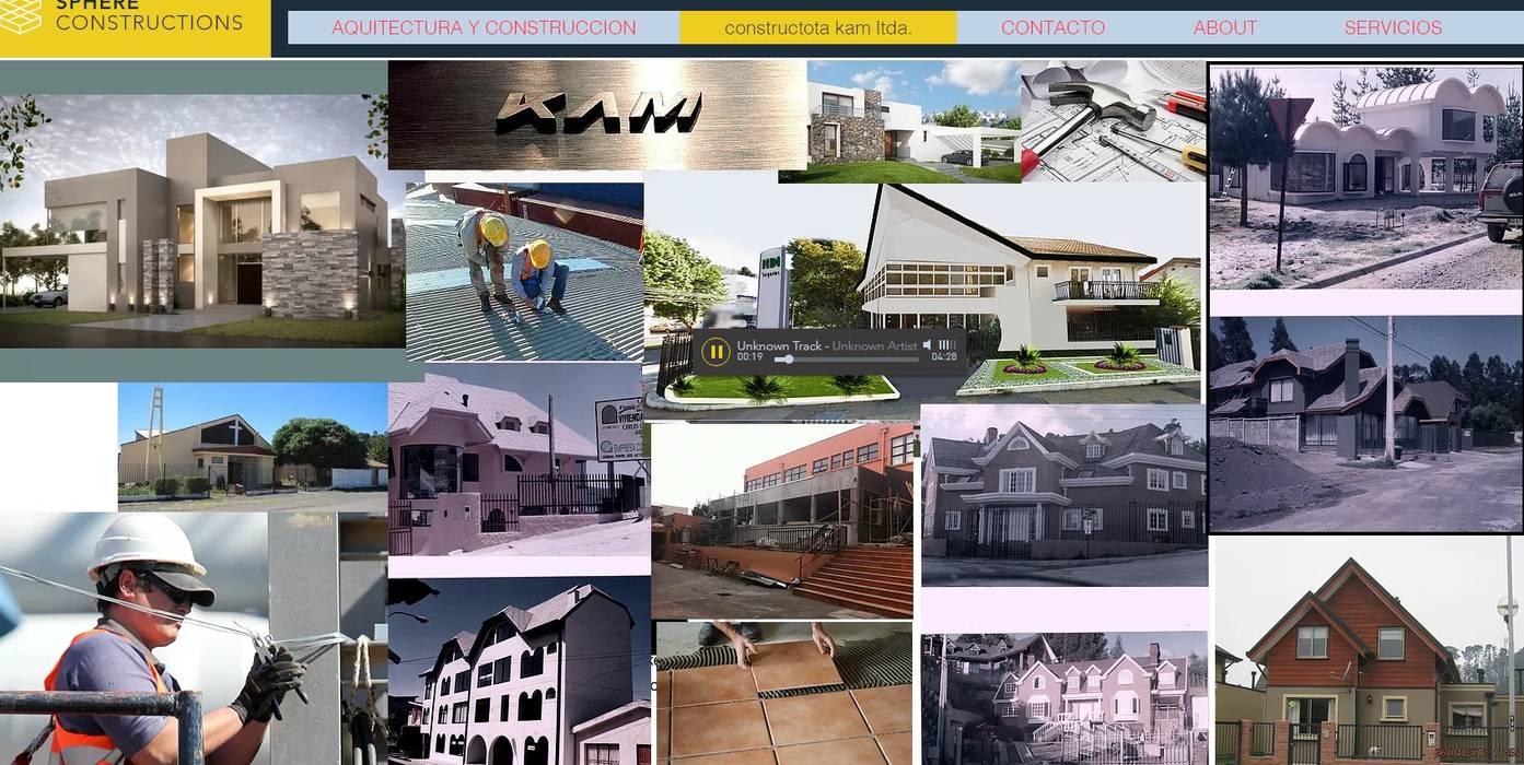 arquitectura y construcción: Casas unifamiliares de estilo  por Carlos Castillo Salas ARQUITECTO