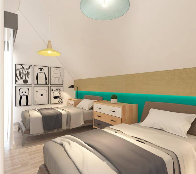 Kamar Tidur Anak :  Kamar tidur anak by Atelier BAOU+