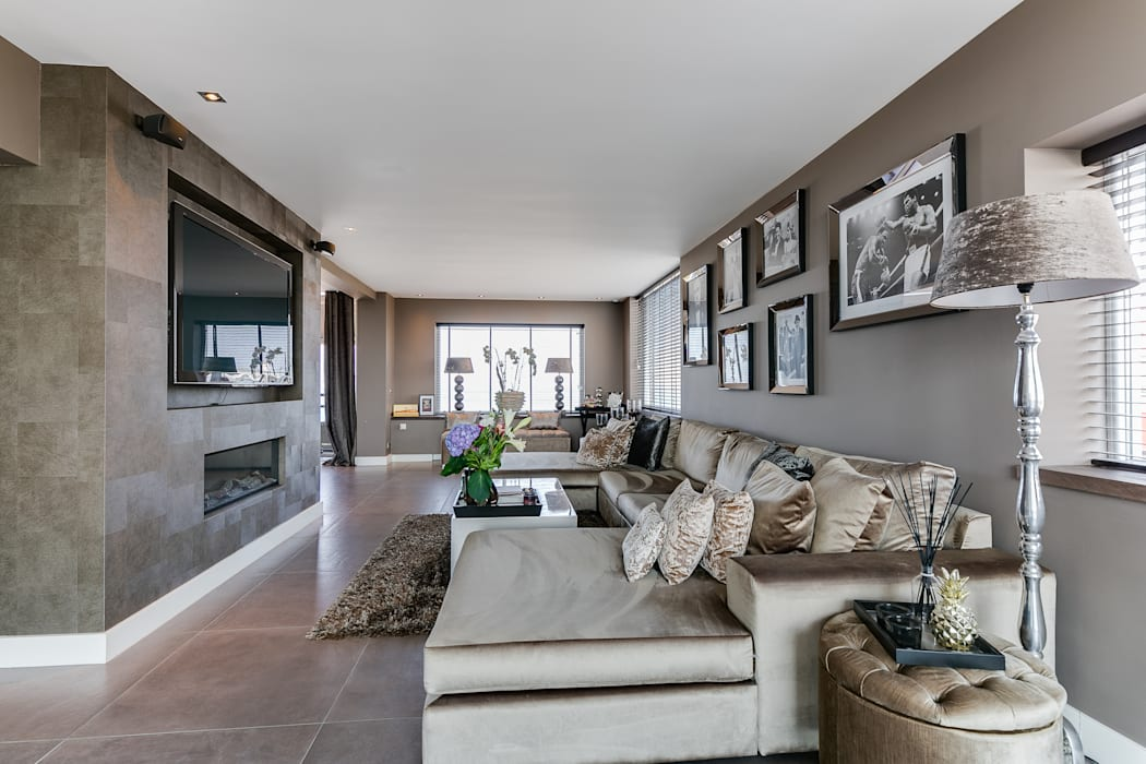 Interieurfotografie penthouse:  Woonkamer door Esther Scherpenzeel Fotografie
