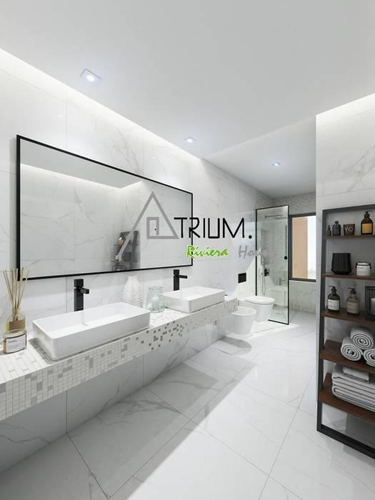 Modern bathroom by Atrium Projetos e Construção Modern
