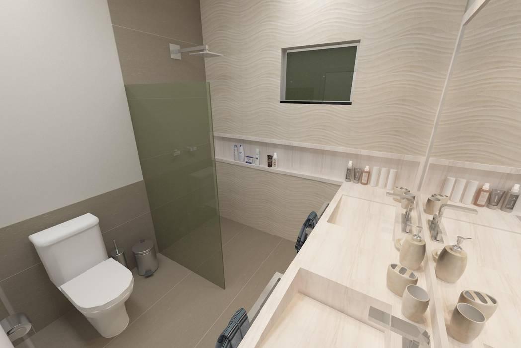 Projeto Moderno de Arquitetura. Banheiros ecléticos por Júlio Padilha Fabiani - Arquiteto Eclético Mármore