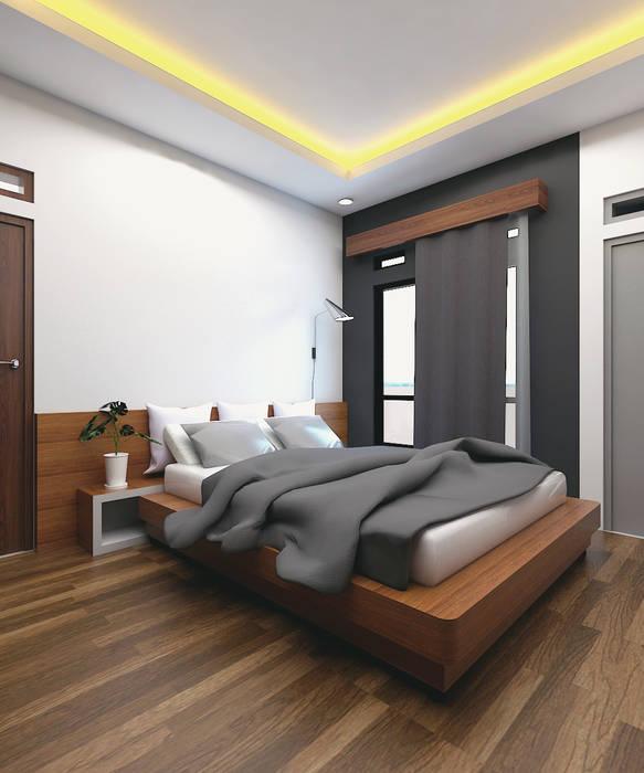 CASA.ID ARCHITECTS Minimalist bedroom Engineered Wood Brown