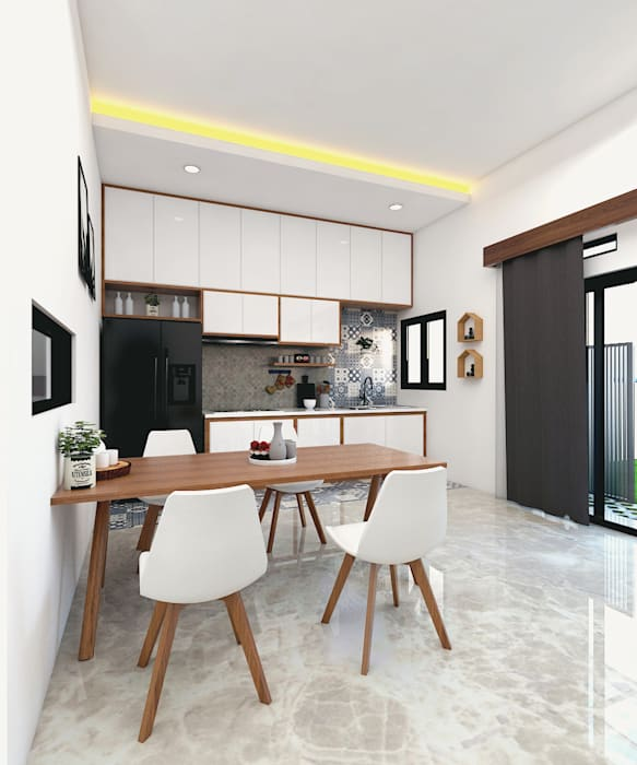 CASA.ID ARCHITECTS Built-in kitchens Engineered Wood White