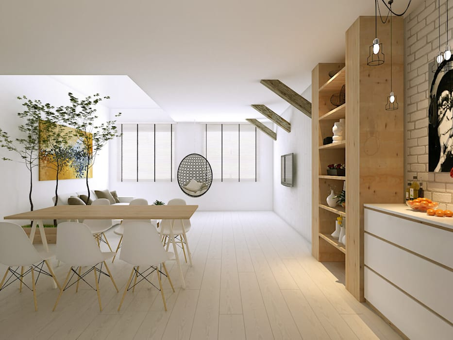 Living room: scandinavian Living room by Singapore Carpentry