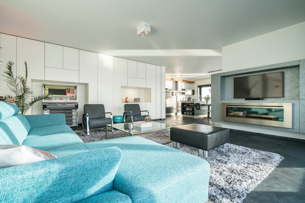 Lucht, Licht, Zicht Moderne woonkamers van Masters of Interior Design Modern