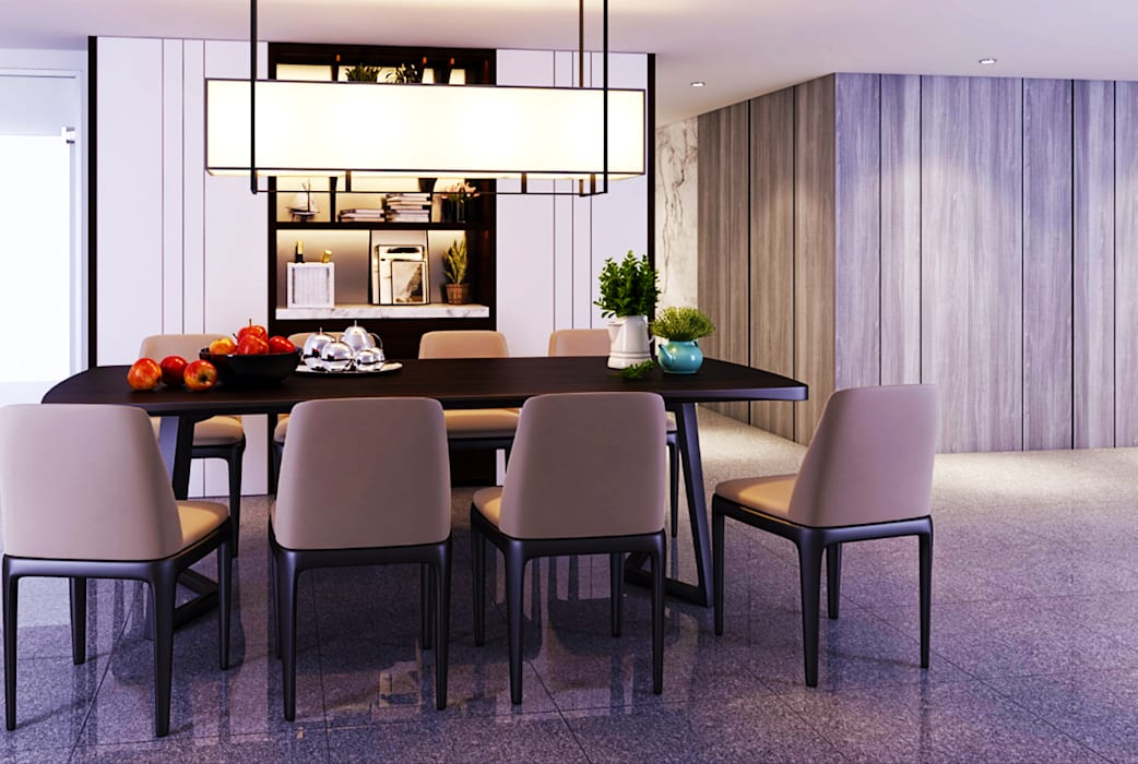 Transitional Style at Thomson Terrace Modern dining room by Singapore Carpentry Interior Design Pte Ltd Modern