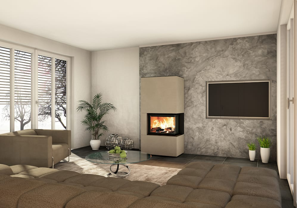 CB stone-tec GmbH Living roomFireplaces & accessories
