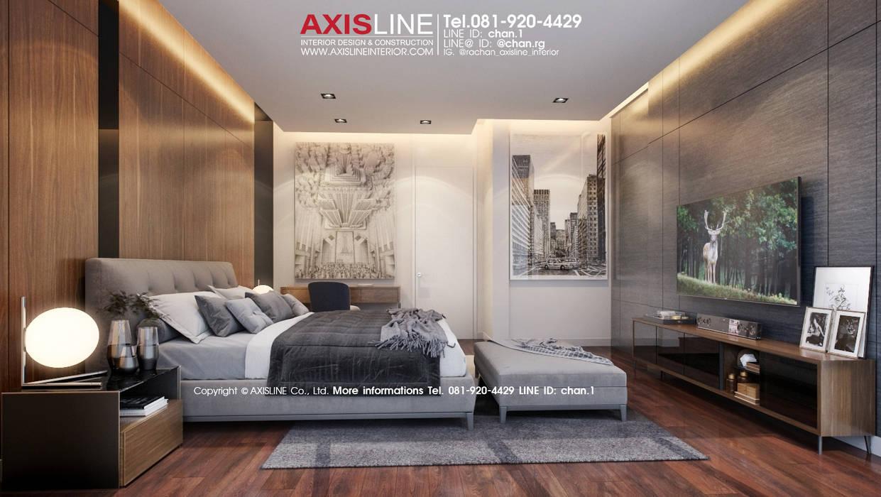 ออกแบบตกแต่งภายในห้องนอน (Master Bedroom): ทันสมัย  โดย บริษัทแอคซิสลาย จำกัด, โมเดิร์น