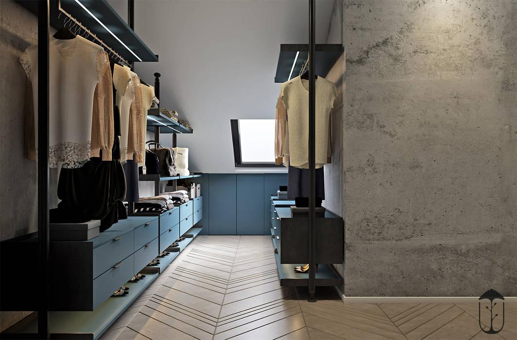 Phòng thay đồ phong cách tối giản bởi YOUSUPOVA Tối giản