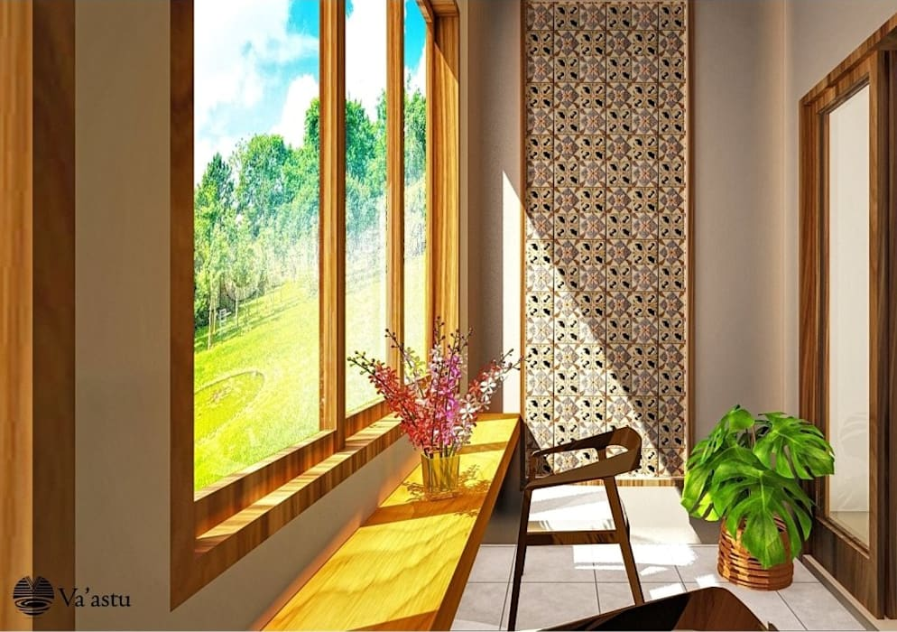 Balkon: Teras oleh Vaastu Arsitektur Studio,