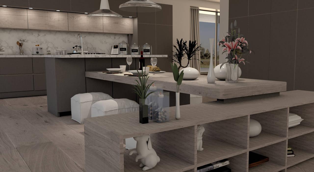 Tavolone e base con credenza porta oggetti: cucina ...