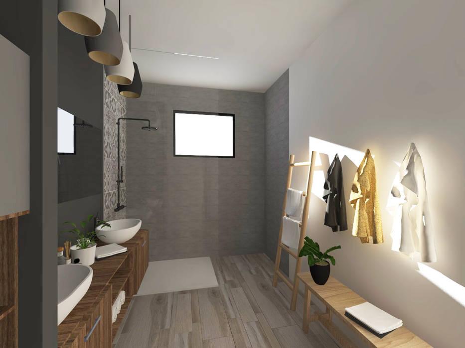 Style industriel - chambre et salle de bain par sandia ...