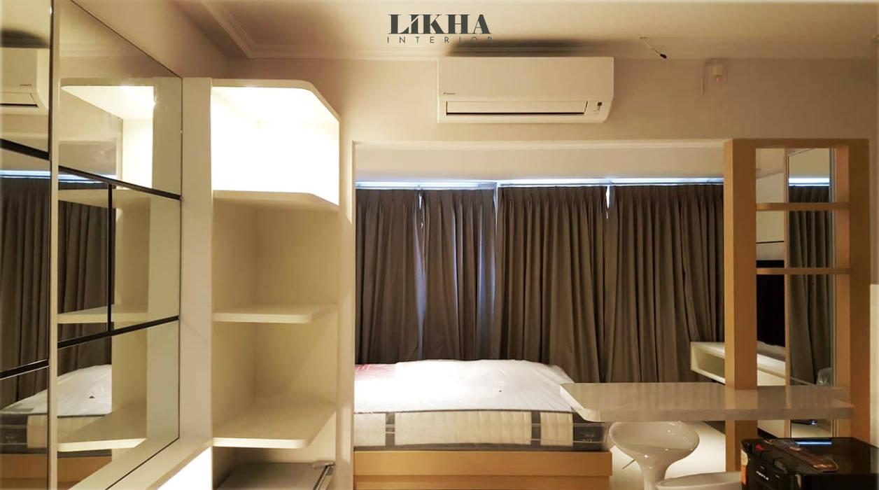 Tempat Tidur Utama & Ruang Tamu Kamar Tidur Minimalis Oleh Likha Interior Minimalis Kayu Lapis
