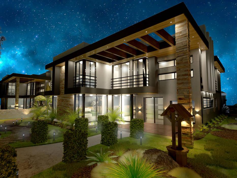 Derat Mimarlık - Tasarım / Archıtects & Interıor – ORTAC VİLLA:  tarz Evler, Tropikal