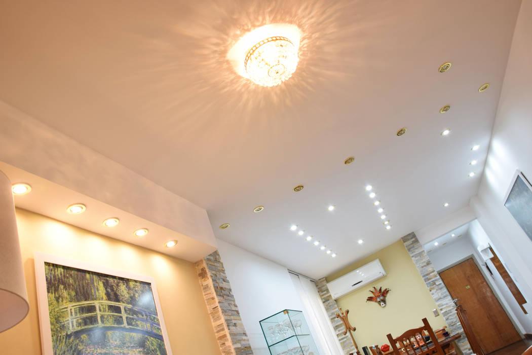 Detalle de cielorraso - Iluminación Livings modernos: Ideas, imágenes y decoración de Arquimundo 3g - Diseño de Interiores - Ciudad de Buenos Aires Moderno