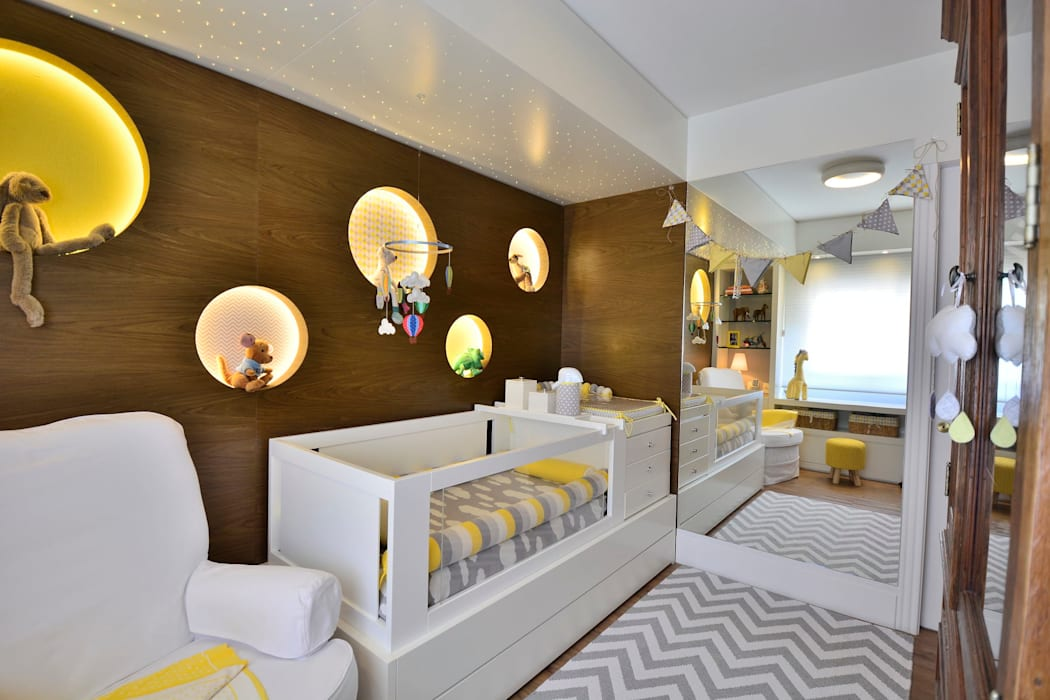 Dormitório de Bebê Lindo: Quartos de bebê  por BG arquitetura | Projetos Comerciais,Moderno