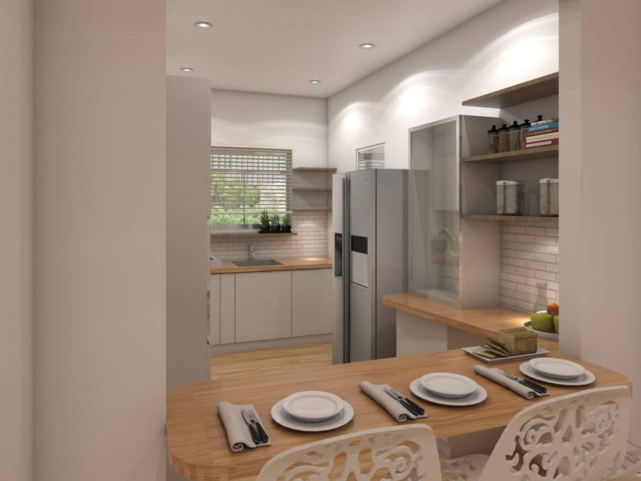 Cocinas equipadas de estilo  por The Cobblestone Studio,