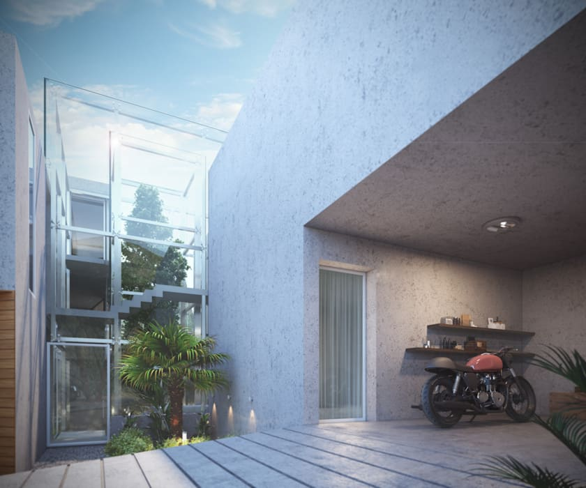 - Modern garage/shed by Studio Gritt Modern