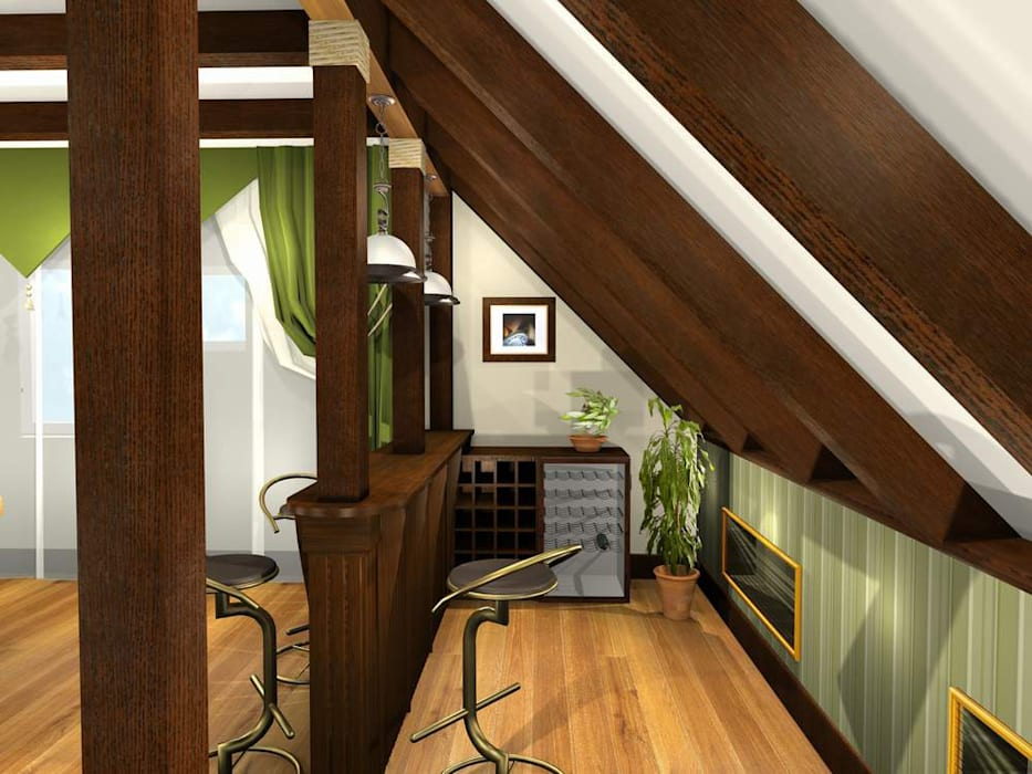 Ruang Multimedia oleh Natalia Fahim Interiors, Klasik Parket Multicolored