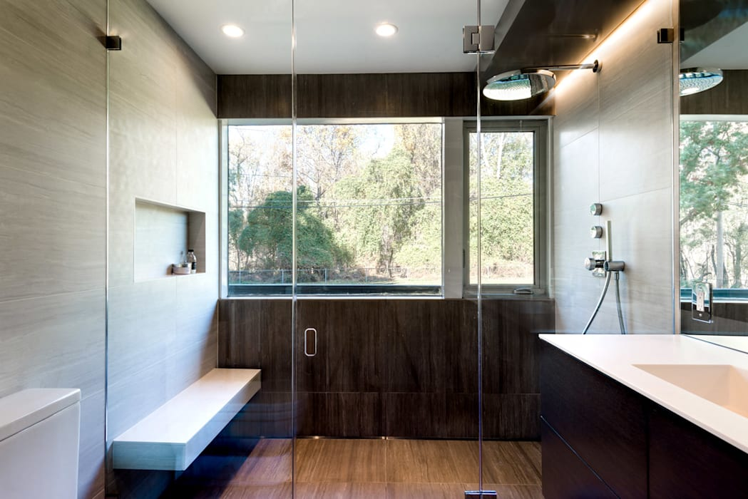 Burningwood Baths Modern Bathroom by KUBE Architecture Modern