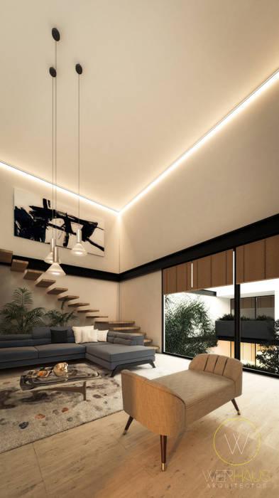 Salas de estar modernas por WERHAUS ARQUITECTOS Moderno