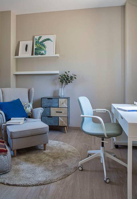 Cuatro Casas en Consolación Estudios y despachos de estilo mediterráneo de Idearte Marta Montoya Mediterráneo