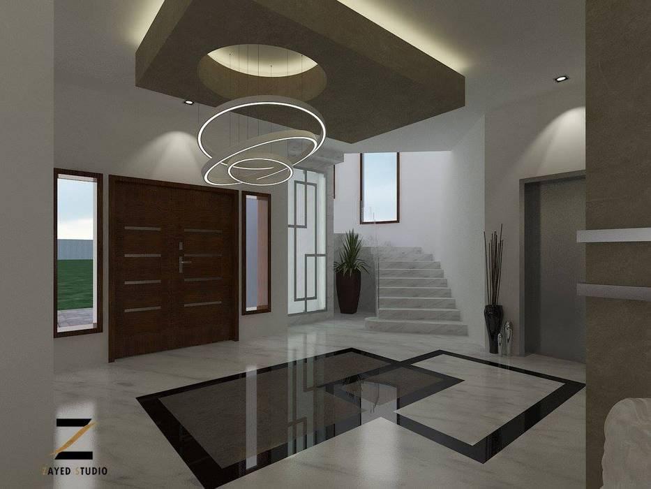 :  الممر والمدخل تنفيذ ZAYED Studio,