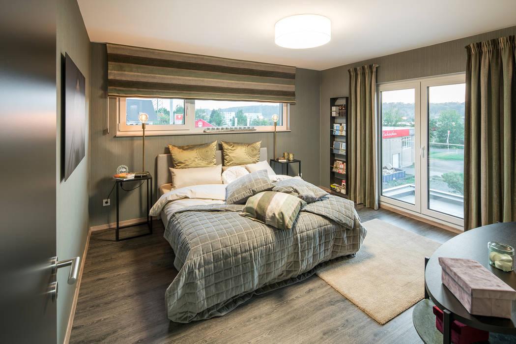 Schlafzimmer Mit Bodentiefen Fenstern Fingerhaus Gmbh Bauunternehmen In Frankenberg Eder Moderne Schlafzimmer Homify