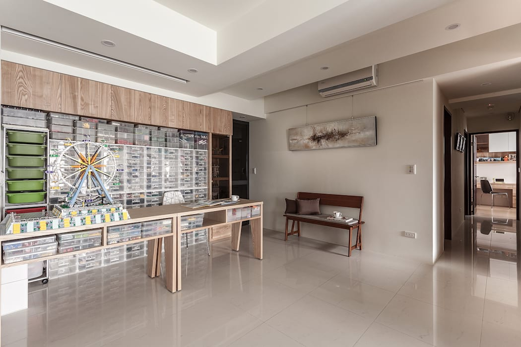 達人基地 根據 鼎士達室內裝修企劃 現代風 實木 Multicolored
