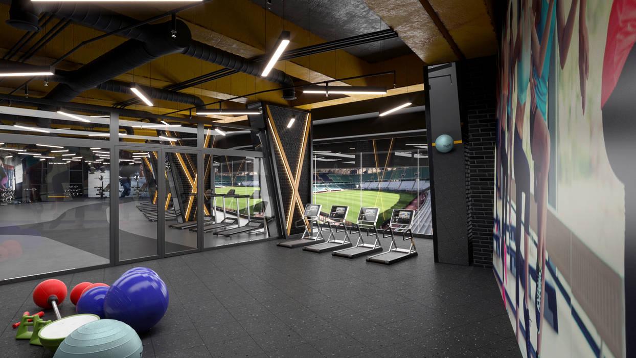 Dündar Design - Mimari Görselleştirme – Fitness Salonu:  tarz Fitness Odası