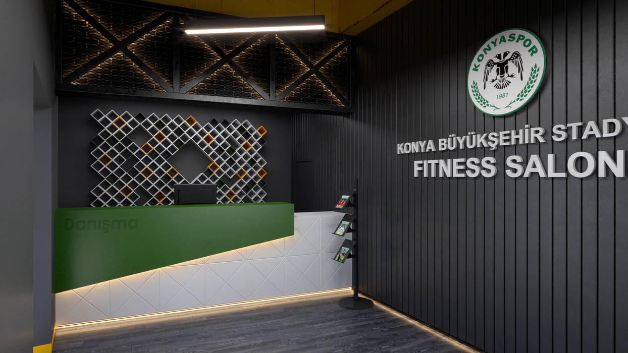 Fitness Salonu Modern Fitness Odası Dündar Design - Mimari Görselleştirme Modern