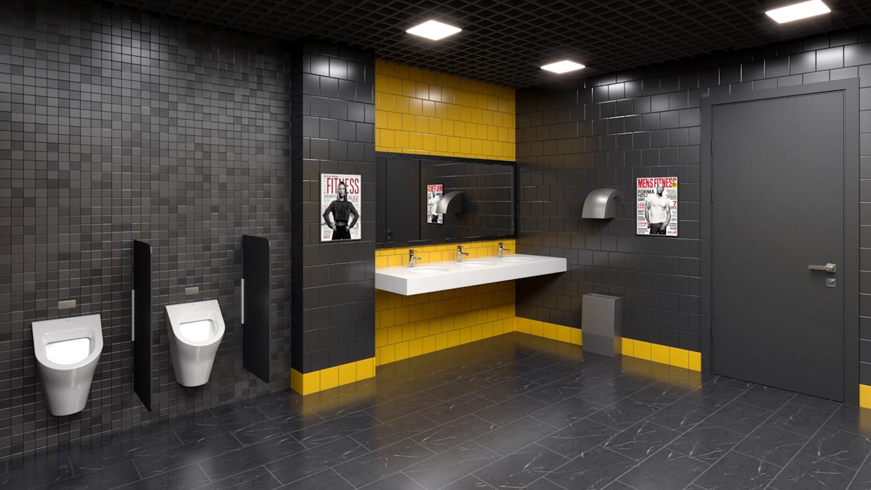 Gimnasios domésticos de estilo  de Dündar Design - Mimari Görselleştirme