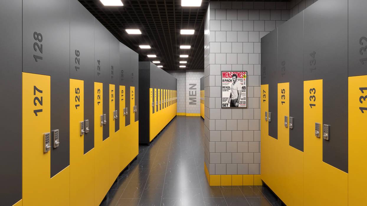Fitness Salonu Dündar Design - Mimari Görselleştirme Modern Fitness Odası