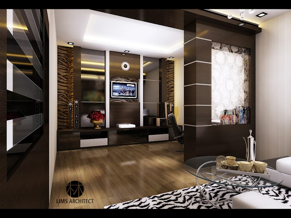 J Permai  Interior: Ruang Keluarga oleh Lims Architect,