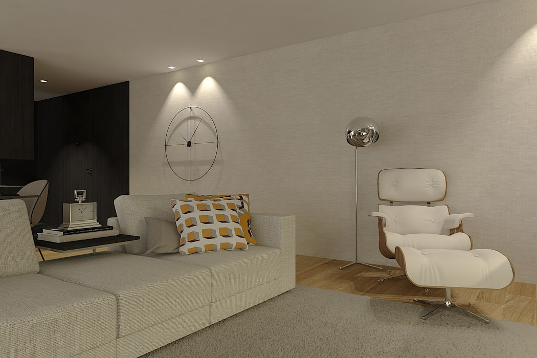 SS Duplex Apartment: Sala de estar  por 411 - Design e Arquitectura de Interiores