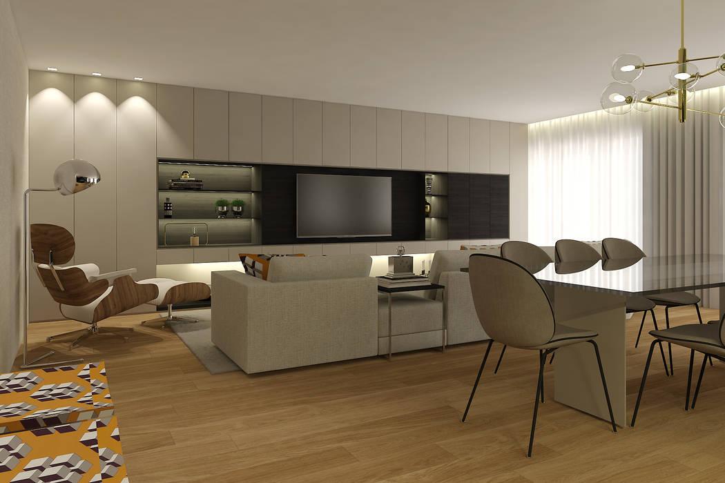 SS Duplex Apartment: Salas de estar  por 411 - Design e Arquitectura de Interiores