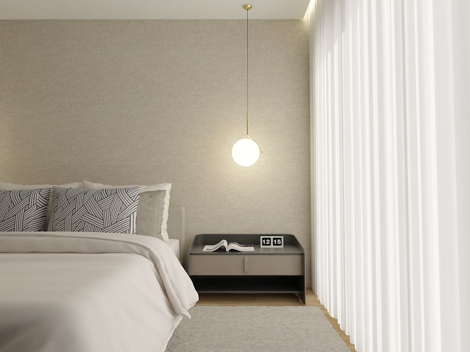 SS Duplex Apartment: Quarto  por 411 - Design e Arquitectura de Interiores