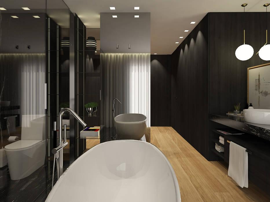 SS Duplex Apartment: Casa de banho  por 411 - Design e Arquitectura de Interiores