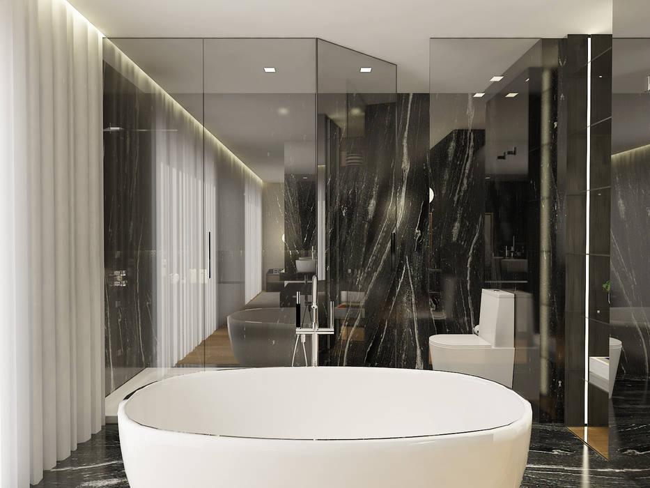 SS Duplex Apartment: Casas de banho  por 411 - Design e Arquitectura de Interiores