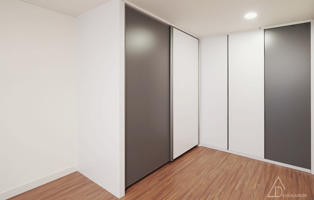 Salas multimedia de estilo moderno de 디자인 아버 Moderno