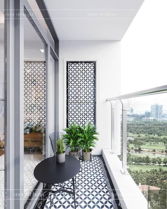 Phong cách hiện đại trong thiết kế nội thất căn hộ Vinhomes Central Park Vườn phong cách hiện đại bởi ICON INTERIOR Hiện đại