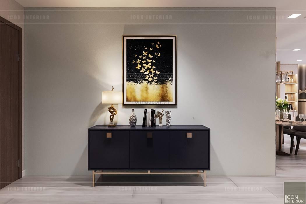 Phong cách hiện đại trong thiết kế nội thất căn hộ Vinhomes Central Park bởi ICON INTERIOR Hiện đại
