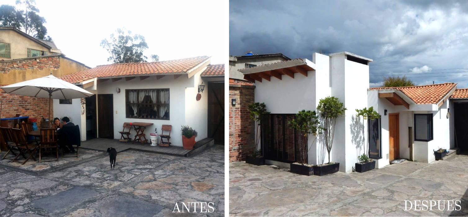 ANTES Y DESPUES: Casas campestres de estilo  por noc-noc, Moderno
