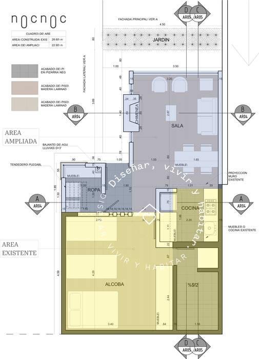 PROPUESTA: Casas campestres de estilo  por noc-noc, Moderno