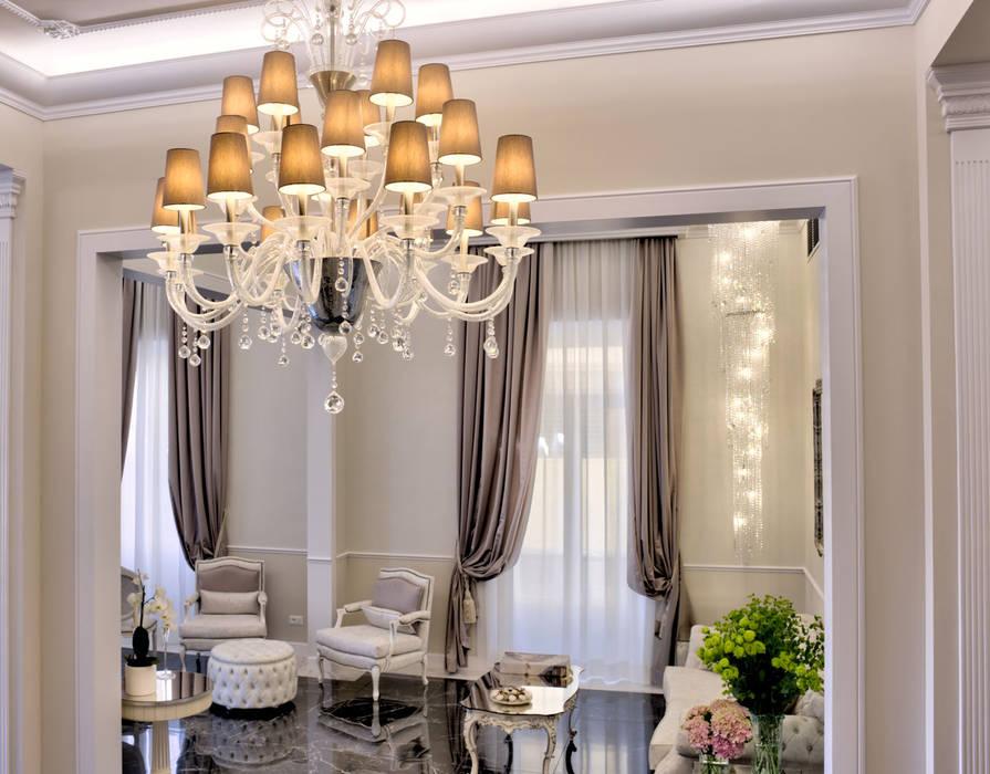 lampadari di lusso in vetro di Murano - Hotel The Moon Firenze di MULTIFORME® lighting Classico Vetro