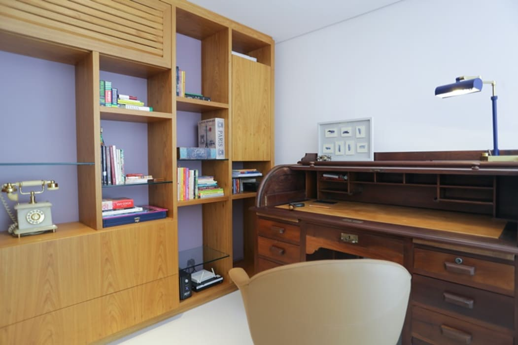 Study/office by MARIA FERNANDA PEREIRA, Modern Wood Wood effect