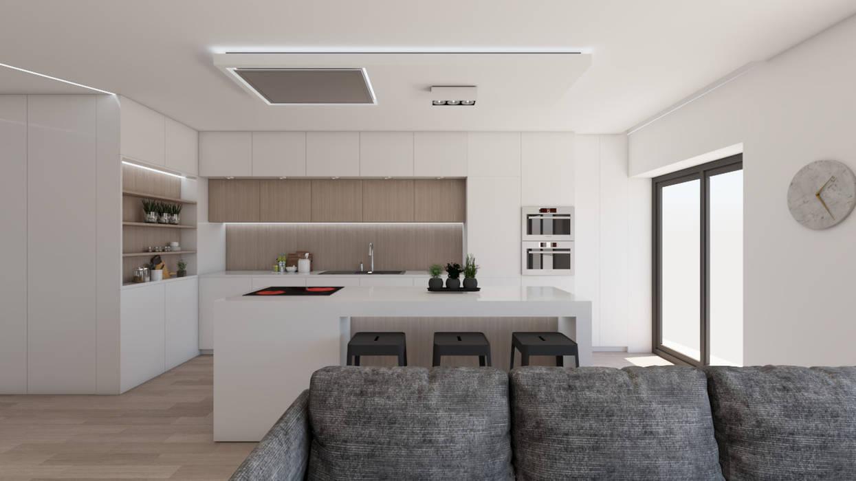 Apartamento na Ericeira Type02 Cozinhas modernas por DR Arquitectos Moderno